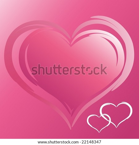 The valentine's day. Vector illustration. EPS8, all parts closed, possibility to edit. - stock vector