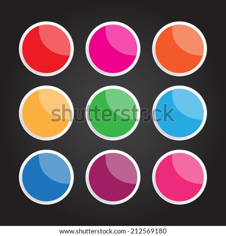 The vector circle button for creative work