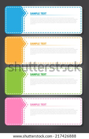 The Vector Illustration, Colorful Template for Creative Work