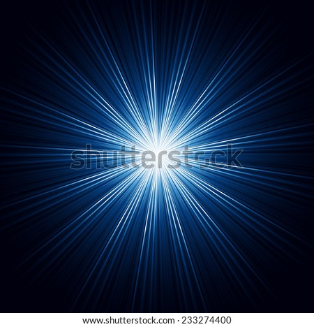 The vector illustration contains the image of blue abstract background with ray - stock vector