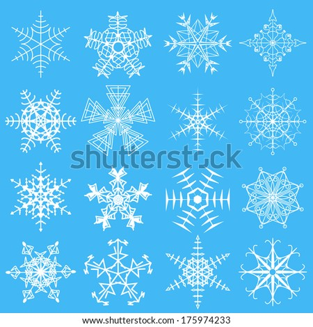 The vector illustration of snowflakes.