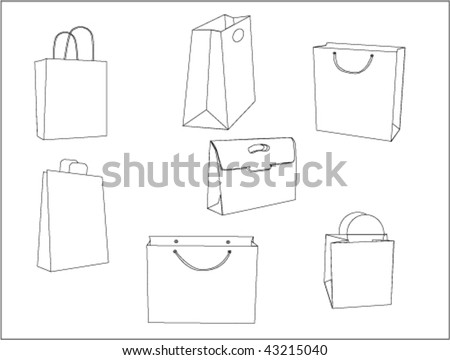 The vector image of paper packages