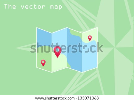 the vector map icon - stock vector