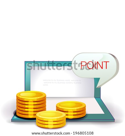 The view of coin with the bankbook  - stock vector