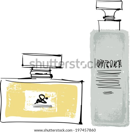 The view of Cosmetics  - stock vector