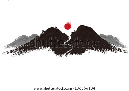 The view of mountain  - stock vector
