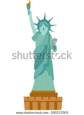 The view of Statue of Liberty