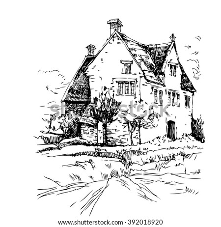 The Village Homes of England, vector illustration