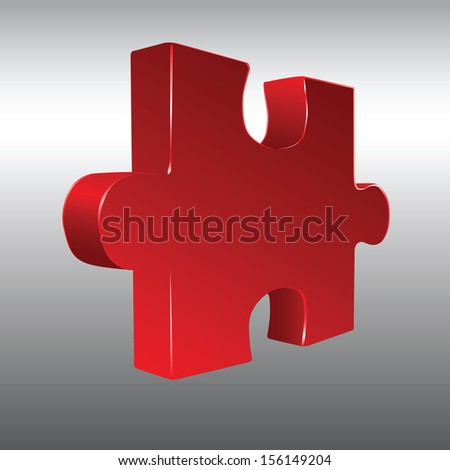 The volume figure for constructing puzzles. Vector illustration. - stock vector