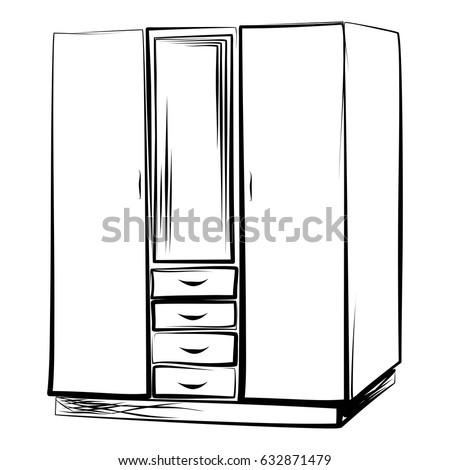 Wardrobe Locker Style Linear Art Manual 632871479