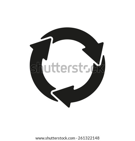 The waste processing icon. Bio symbol. Flat Vector illustration - stock vector