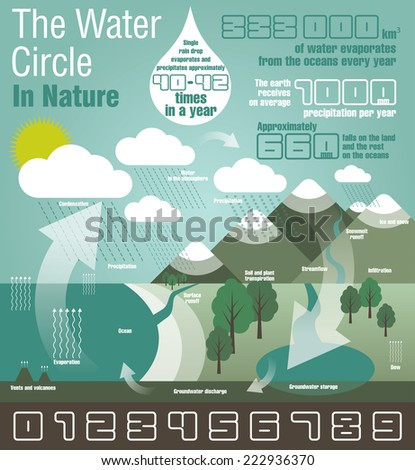 The Water Circle. Infographic - stock vector