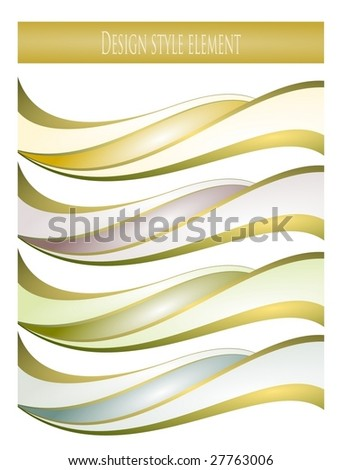 the waves - stock vector