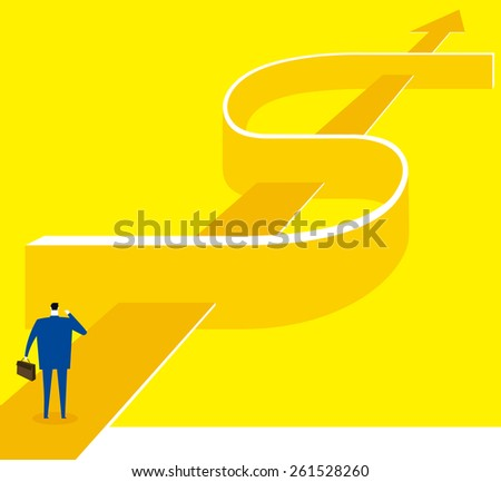 The way of success is faraway - stock vector