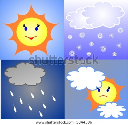 The weather forecast - stock vector
