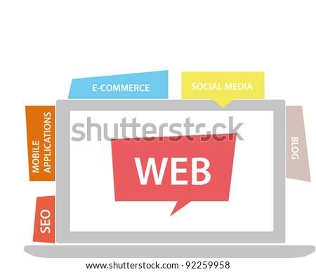 The web - stock vector