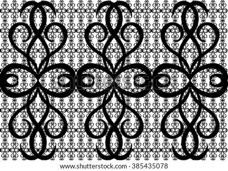 The white and black abstract pattern,ligature