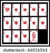 The white cards, hearts - stock photo