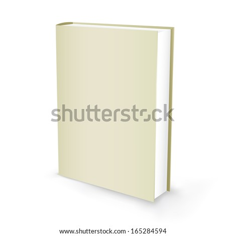 The white presentation book isolated on the white background - stock vector