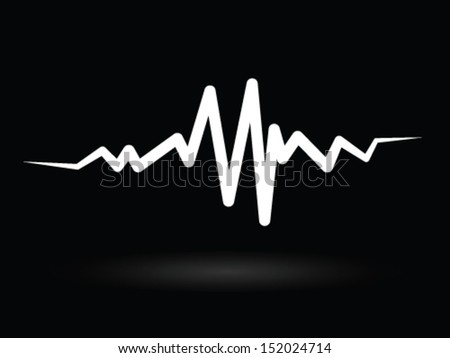 The White Pulse  - stock vector