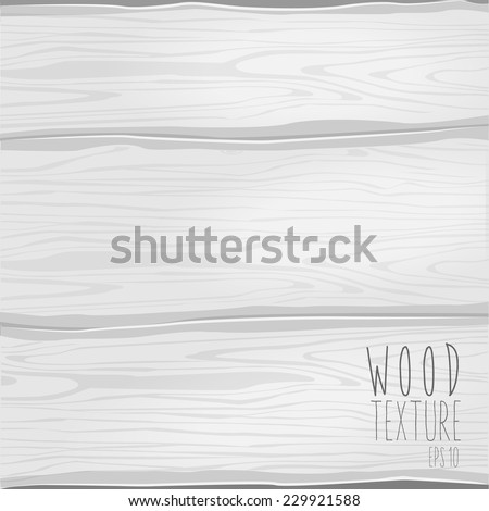 The white wood texture. Vector illustration - stock vector