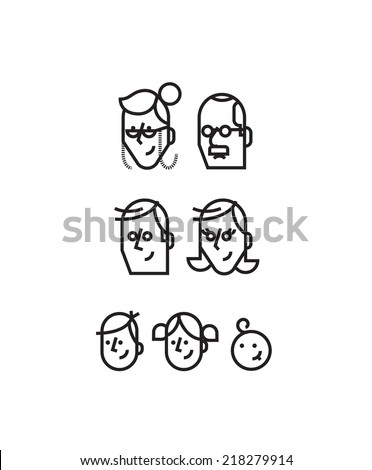 The whole family is here - stock vector