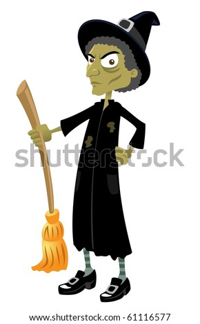 The Wicked Witch-vector - stock vector