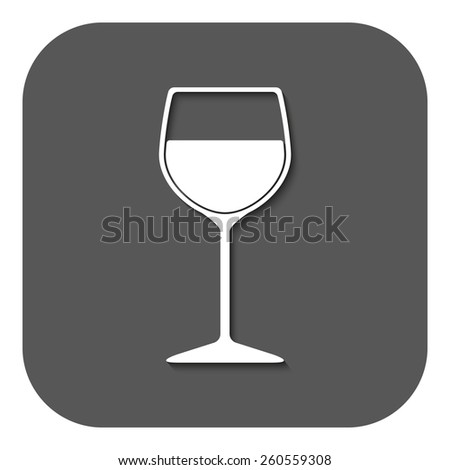 The wineglass icon. Goblet symbol. Flat Vector illustration. Button - stock vector