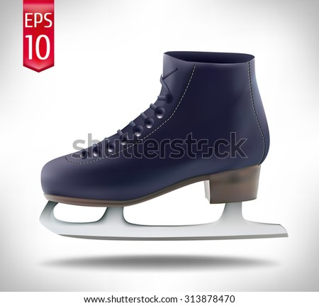 the winter skates on a white background. vector illustration