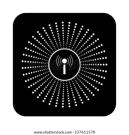 The wireless network on a black background, vector - stock vector