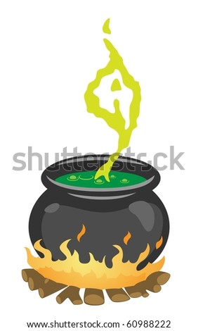 The Witch's Cauldron-vector - stock vector