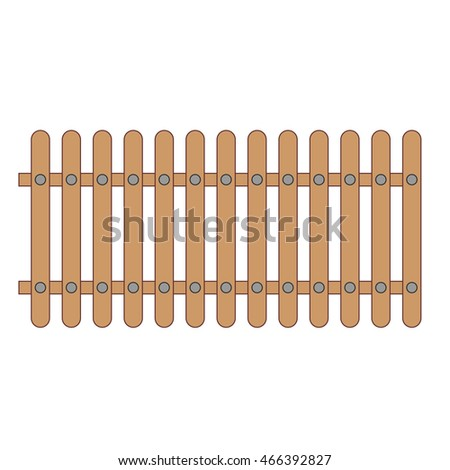 The wooden fence. Vector.