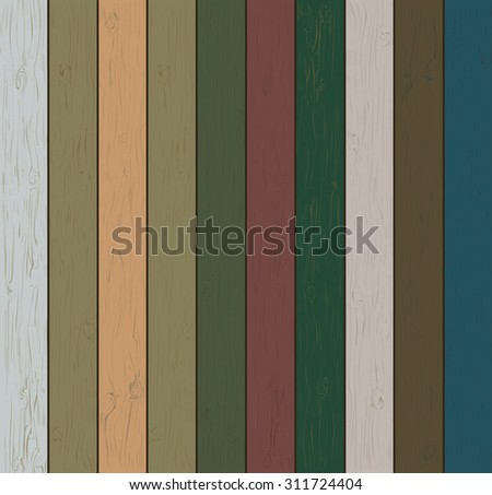 The wooden planks of various shades and colors. Realistic wood texture. You can easily change. Vector illustration. - stock vector