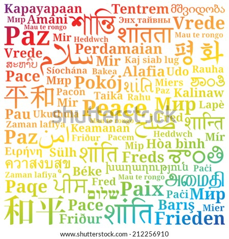 "The word ""peace"" in different languages ??of the world is filled with ...: http://www.shutterstock.com/s/tamil+language/search.html"