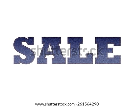 The Word Sale With Jeans Texture - Vector  - stock vector