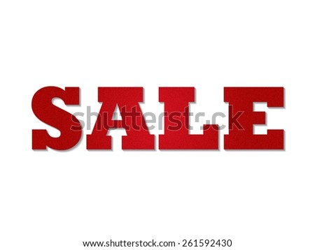 The Word Sale With Red Denim Texture - Vector  - stock vector
