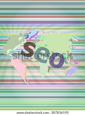 The word seo on digital screen, it concept vector illustration - stock vector
