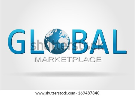 The world and the global marketplace. - stock vector