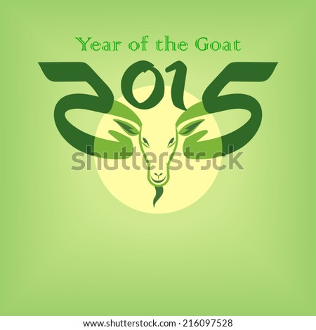 The year of enlightened goat  - stock vector