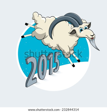 The Year of the Goat - stock vector