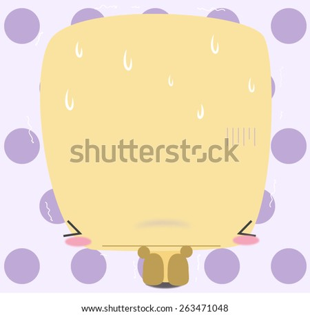 The yellow capcicum can get scared too! please console him a little bit and be with him! - stock vector