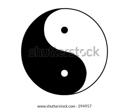 the Yin and Yang sign - stock vector