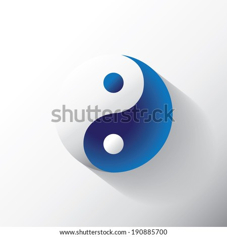 The Ying Yang sign, illustration - stock vector