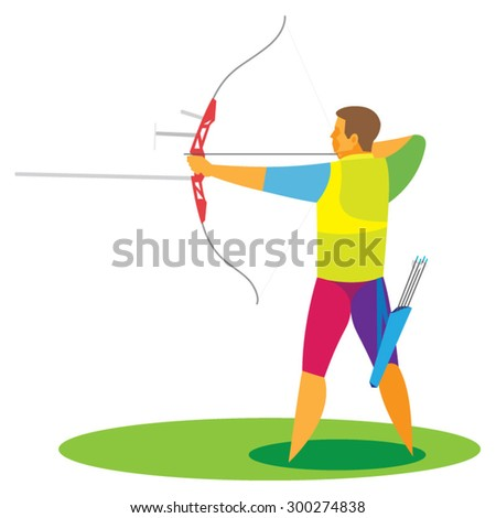 the young archer participates in competitions
