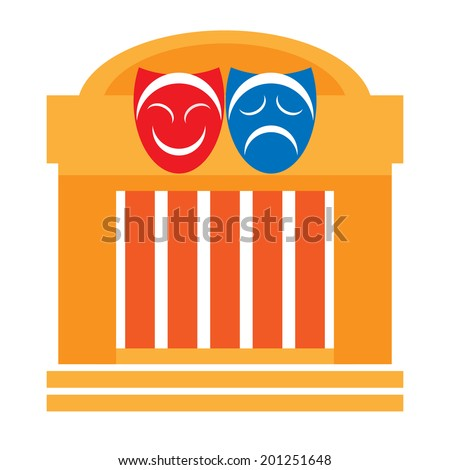 Theater and drama masks, vector - stock vector