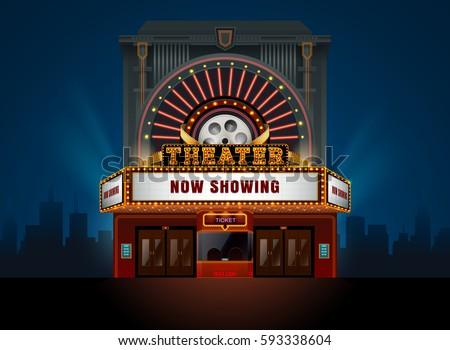 Cinema Stock Images, Royalty-Free Images & Vectors ...  Cinema Building Cartoon