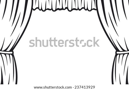 Theater Curtain Stock Vector 237413929 - Shutterstock
