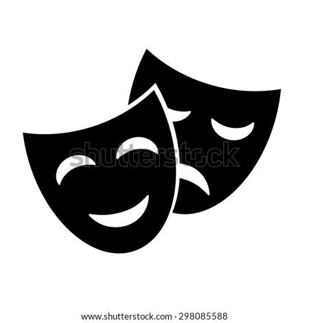 Theater masks. Vector art. - stock vector