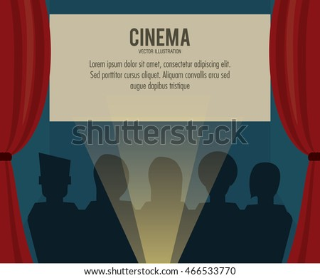 theater people movie film cinema icon. Colorfull illustration. Vector graphic
