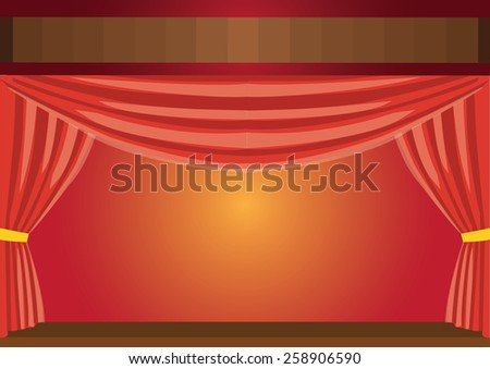 Theater red curtains. Vector Illustration - stock vector